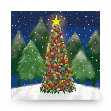 Christmas Card Bright Tree