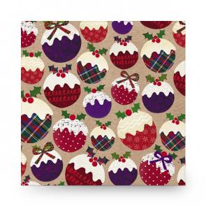Christmas Card Christmas Puddings