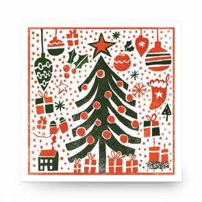 Christmas Card Two Tone Tree