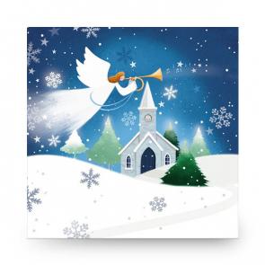 Christmas Card Church Angel