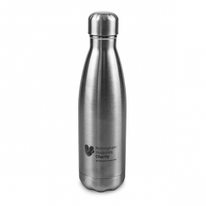 Silver 550ml Double Walled Water Bottle